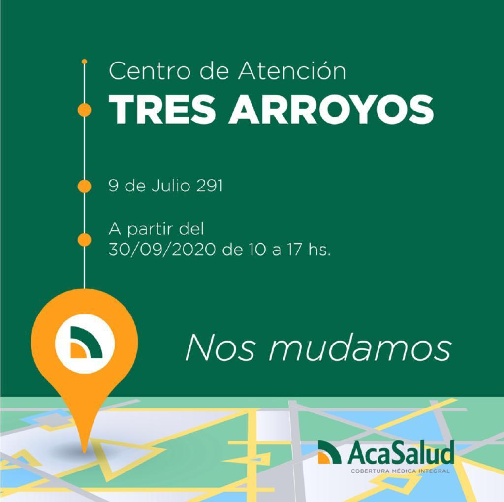 ACA Salud se muda a 9 de Julio y 25 de mayo