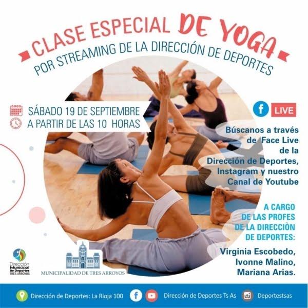 Yoga por Streaming este sábado