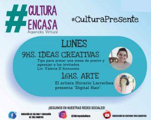 Agenda Cultural Virtual de este lunes