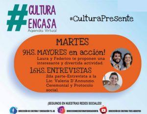 Invitan a la comunidad a participar de las propuestas de la Agenda Cultural Virtual