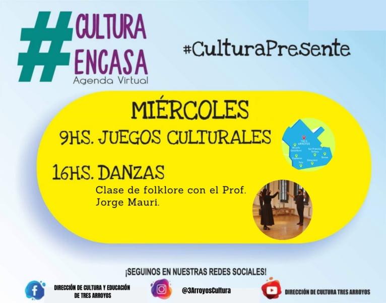 Difunden la Agenda Cultural Virtual de este miércoles