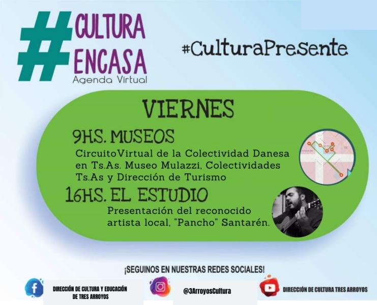 """Agenda Virtual del viernes con Museos y """"Pancho"""" Santarén en El Estudio"""