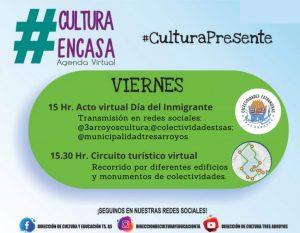 Acto virtual del Día del Inmigrante en la Agenda Cultural de este viernes