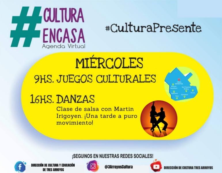 Juegos culturales y danzas en la Agenda Virtual del miércoles