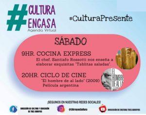 """Agenda Cultural Virtual: este sábado ciclo de cine """"El hombre de al lado"""""""