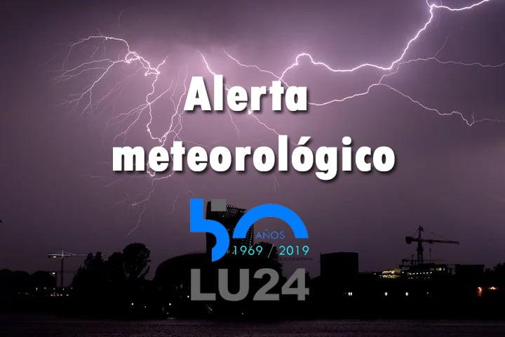 Alerta meteorológico por tormentas fuertes para esta tarde