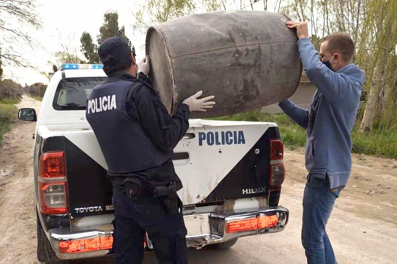Reta: en allanamientos encuentran tambores denunciados como sustraídos