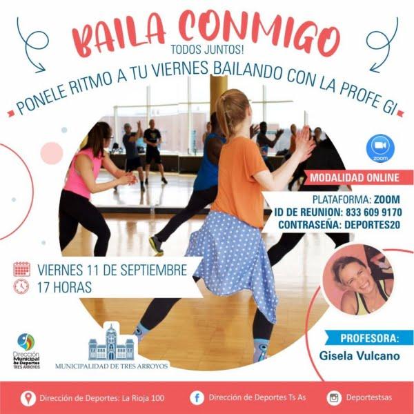 """""""Baila Conmigo"""" con Gisela Vulcano a través de zoom y redes sociales"""