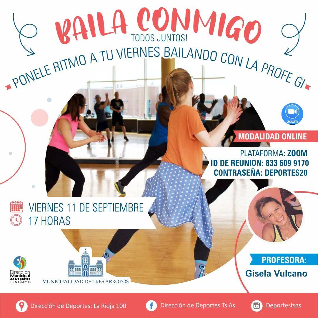 """Nuevo """"Baila conmigo"""" virtual de la Dirección de Deportes"""