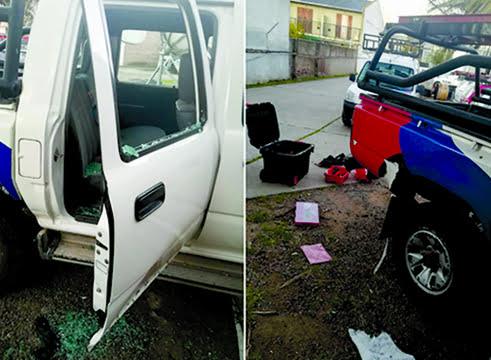 Rompieron vidrios y robaron elementos de una camioneta de Cablevisión