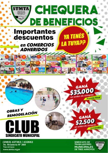 Bono contribución del Club Sindicato Municipal: importantes sorteos y descuentos en comercios de la ciudad