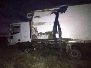 Choque de camiones en la Ruta 228 cerca de Necochea