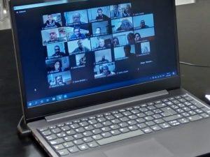Sánchez en reunión virtual con la Cooperar