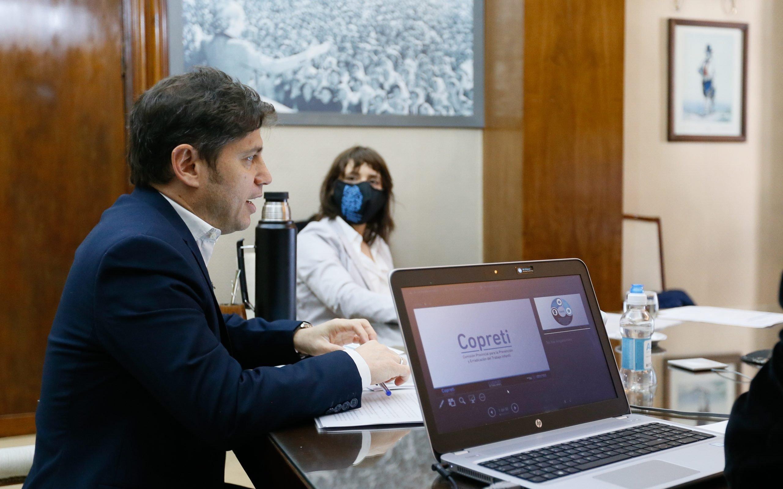 Kicillof y Ruiz Malec presentaron el Programa Provincial para la Erradicación del Trabajo Infantil