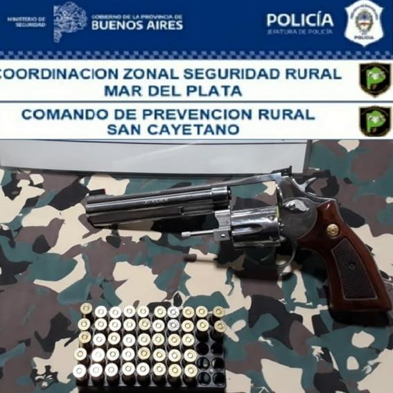 Un aprehendido por portación de arma de fuego en San Cayetano