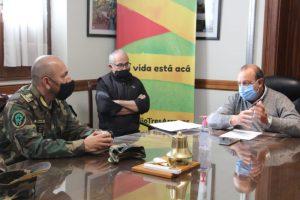 Sánchez recibió a la flamante cúpula de la Patrulla Rural