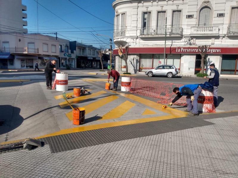 Tareas de Barrios Limpios en el centro