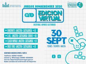 Hasta el 30 de septiembre inscriben en los Juegos Bonaerenses Virtuales
