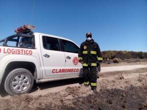 Incendio en el Vivero: queda una dotación de Bomberos de Claromecó realizando guardia de cenizas