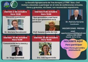 Agenda de charlas y conferencias con reconocidos expositores