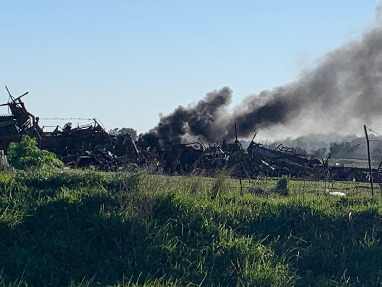 No hay quema en el basural. Es en esa zona y el humo no afecta la planta urbana (Video)