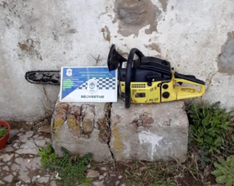 Chaves: Efectivos policiales recuperaron una motosierra robada
