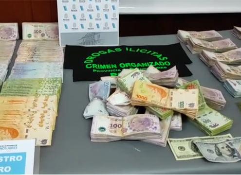 Incautaron droga pura, mas de 600.000 pesos, dólares y pedirán la detención de los aprehendidos (video)