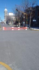 Tránsito vehicular cortado alrededor de la Municipalidad durante el fin de semana