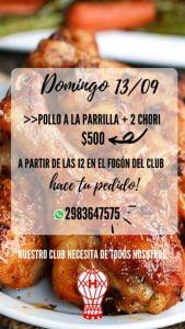Este domingo el básquet de Huracán vende pollos a la parrilla