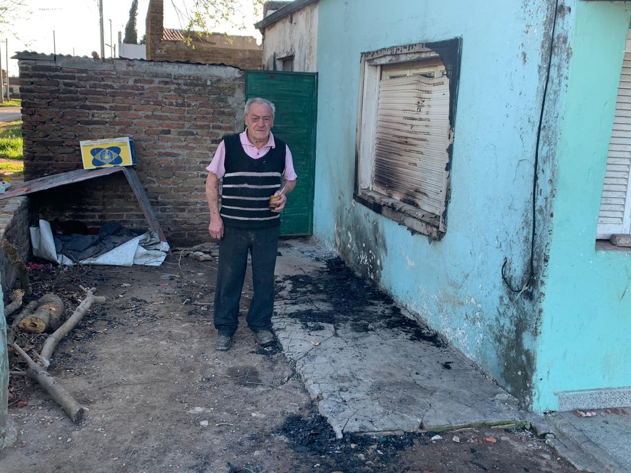 Incendio intencional en una casa de Tres Arroyos. El vecino pide Justicia