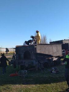 Bomberos rescataron a una nena atrapada en la histórica carbonera del ferrocarril