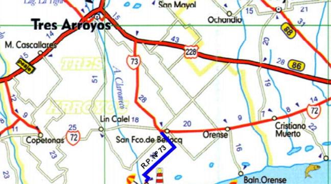 El 7 de octubre abrirán ofertas para repavimentar la ruta 73 desde la 72 hasta Claromecó