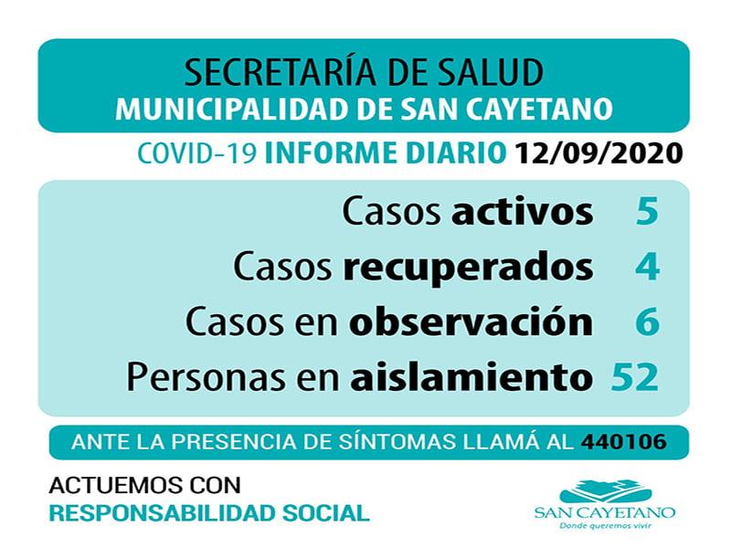 COVID-19: Esperan resultados y realizaron nuevos hisopados en San Cayetano