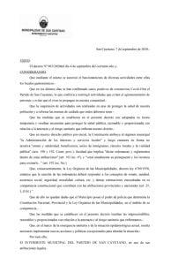 San Cayetano: suspenden la concurrencia a locales gastronómicos