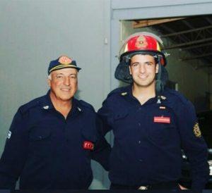 Claromecó: Alan Lamberti viajó a prestar servicio en los incendios de San Luis