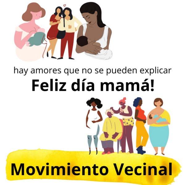 El Movimiento Vecinal saluda a las madres en su día