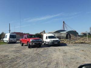 Retiran tanques de combustible de lo que fue la estación de servicio Sol