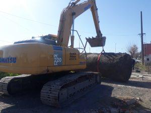 Trasladaron a Bahía Blanca los tanques de la ex Sol (video)