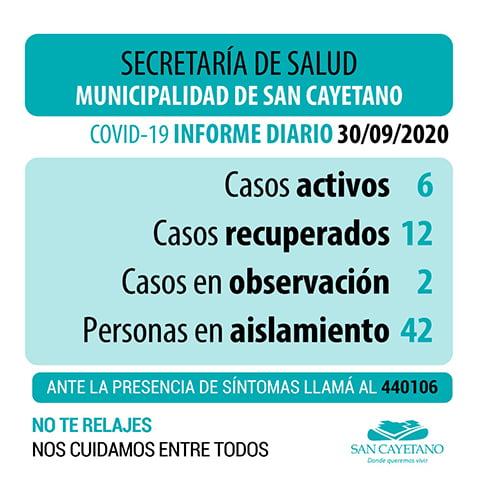 San Cayetano: evolución favorable para los pacientes con Covid-19