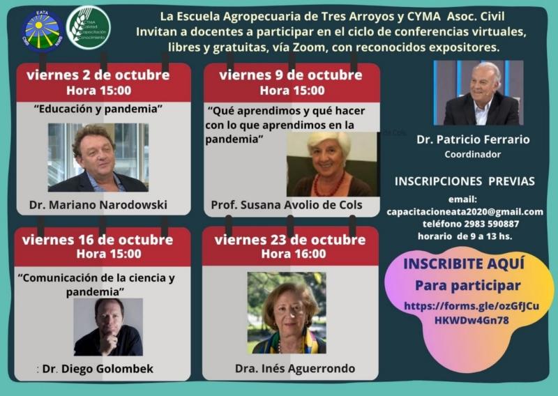 Inés Aguerrondo cierra hoy un importante ciclo de charlas de la Escuela Agropecuaria
