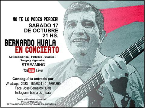 Bernardo Huala en Concierto