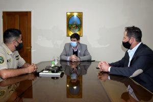 Gargaglione recibió al nuevo Director Operativo de Seguridad Rural