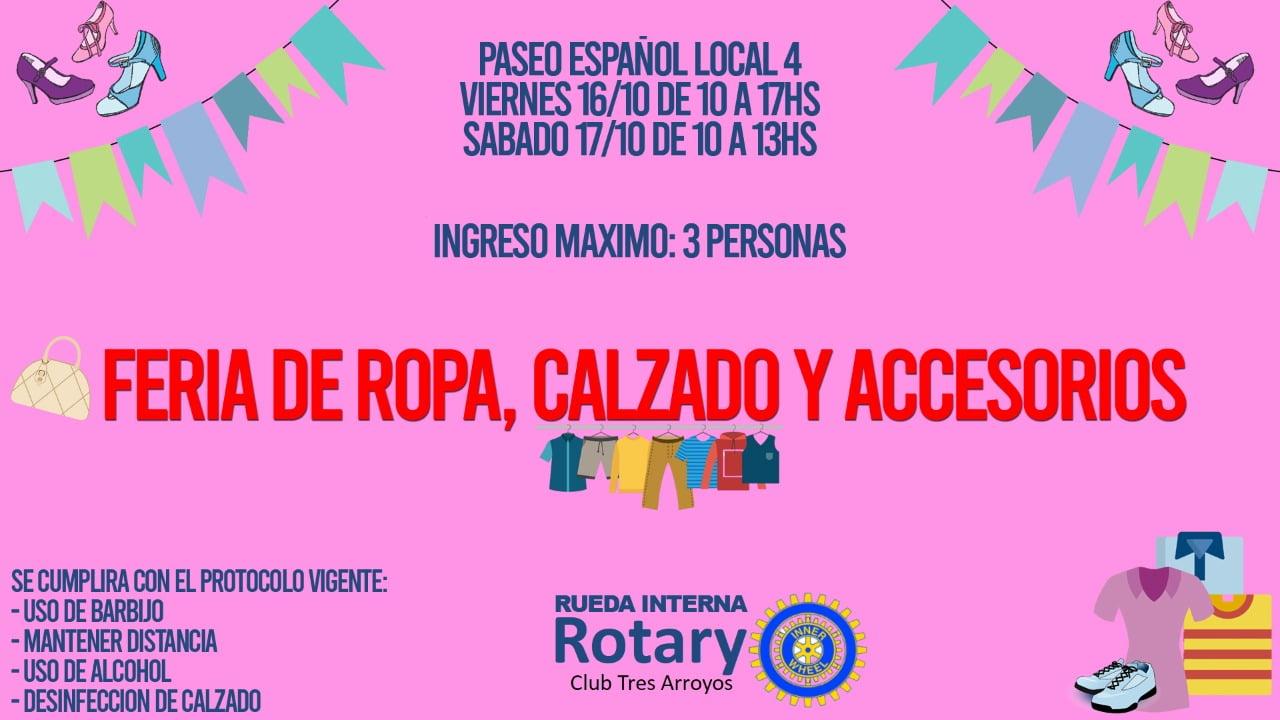 Feria de ropa, calzado y accesorios de Rotary Club Tres Arroyos