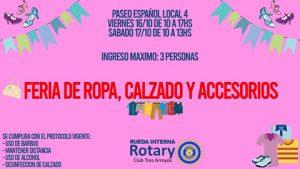 El viernes y sábado habrá una nueva feria de la Rueda Interna de Rotary