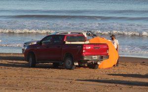 Claromecó: realizaron controles vehiculares en zona de playa