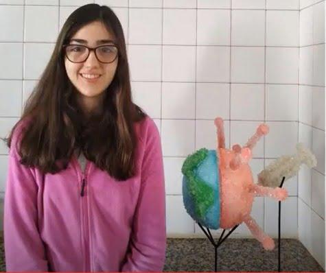 Impactante trabajo de la estudiante Irene Castro Aparicio, finalista en un concurso de Cristalografía (video)