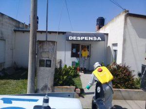 De La Garma: Bomberos realizaron tareas de desinfección en la vía pública