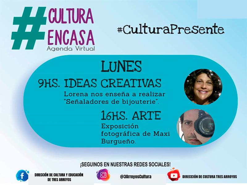 Cultura continúa con  las propuestas en la Agenda Virtual