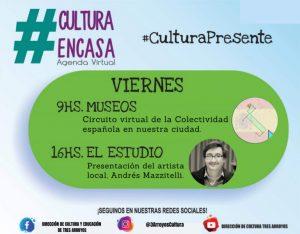 Agenda Cultural Virtual del viernes