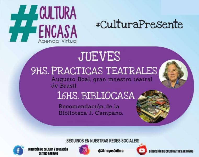 Agenda Cultural Virtual de este jueves